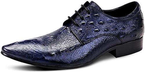 Robe pour Homme d'affaires en Forme Forme De Poisson, Oxford, Chaussures De Grande Taille en Cuir à Lacets Britanniques  pas cher en ligne