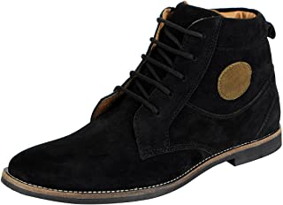 FAUSTO Men's Suede Leather Chukka Boots