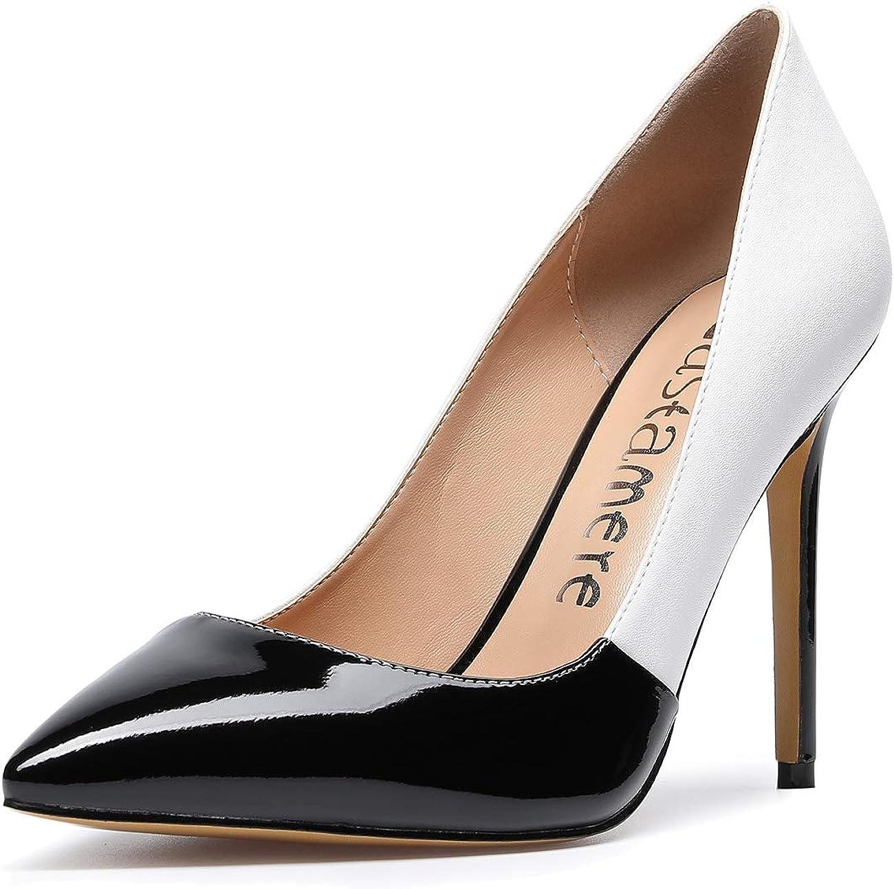 CASTAMERE Zapatos de Tacón Mujer Tacón de Aguja 10CM Tacón