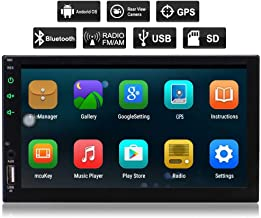 New Eincar Android 6.0 Car Stereo Radio Double Din with Bluetooth GPS Navigation Quad Core, Support Mirror Link, WiFi, Backup Camera in, 64GB USB SD, 7 inch Touch Screen,External Mic,Remote Control