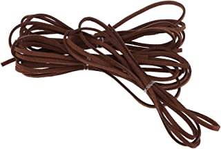 FITYLE 1 Meter Leather Cord Strings for Bracelet Necklace Beading Jewelry Making - Coffee