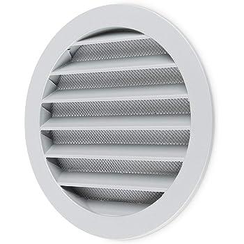 Hon&Guan ø150mm Ronda Rejilla de Ventilación ABS con Protección Contra Insectos , Respiraderos de Láminas para Baño Habitación Oficina (ø150mm): Amazon.es: Bricolaje y herramientas