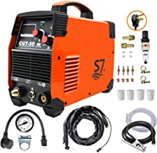 Plasma Cutter, 50A Inverter AC-DC IGBT Dual Voltage (110/220V/120V/240V) Cut50 Portable Cutting Welding Machine With Intel...