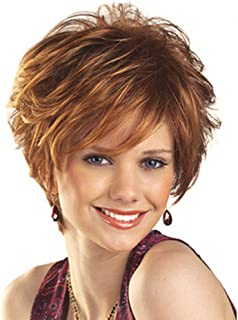 HAIRCUBE Natural Short Fluffy with Bangs Synthetic Wigs for Women(Color 30)