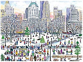 Galison Michael Storrings Winter in Central Park 1000 Piece Puzzle