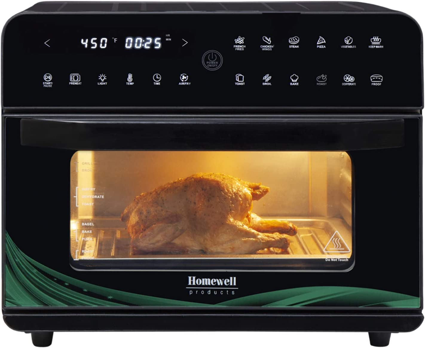 Homewell XL Large Air Fryer 1800W National products 26QT Convection Capacity 67% OFF of fixed price Oven