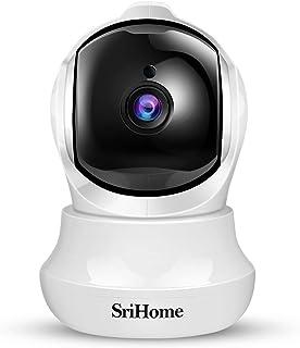 Telecamera Wi-Fi Interno FHD 3MP, SriHome Telecamera IP Senza Fili di Sicurezza Domestica HD Wifi con Visione Notturna, Pa...