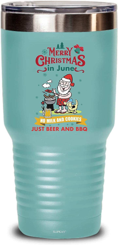 Christmas In June No Milk And Cookies Just gift BBQ Spasm price Tumbler Beer