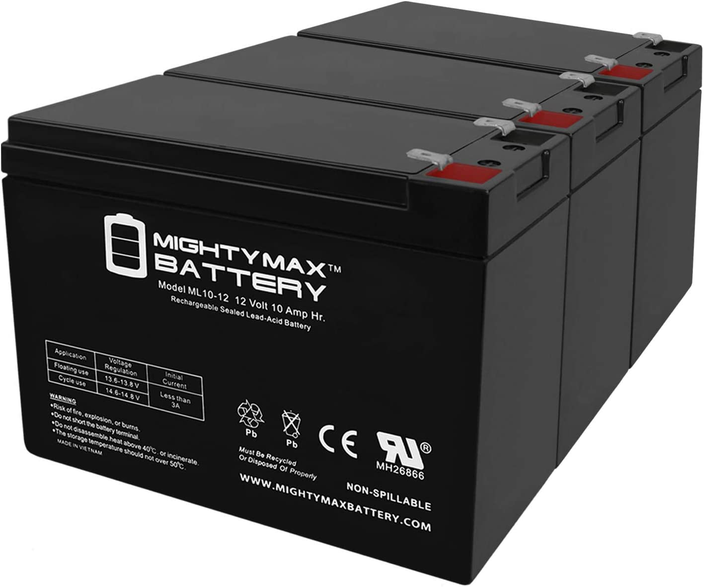 Mighty Max Battery Mail order ML10-12 - Scooter Enduri 12V Cheap mail order sales for 10AH
