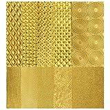 Struktur-Wachsplatten in Gold