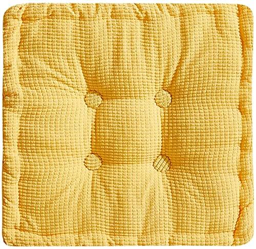 DZCGTP Stuhl Sitzauflagen Kissen, 1er Set Blau 50 x 50 cm Weichboden Kissen Kissen Große Quadratische Meditationskissen Indoor Outdoor