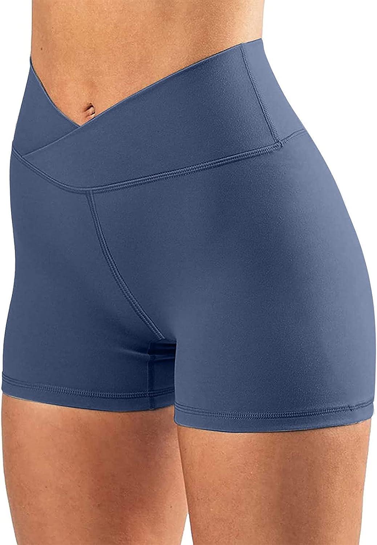 Uppada Women's Athletic Shorts Workout Legging Shorts High Waisted Summer Gym Yoga Soft Activewear Excercise Pants