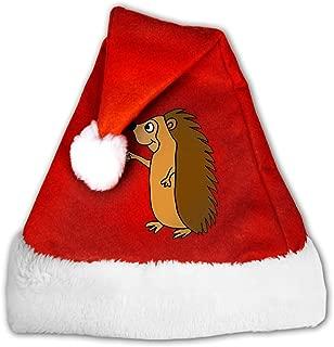 Hedgehog Drinking Beer Christmas Santa Hat Christmas Party Caps Decor