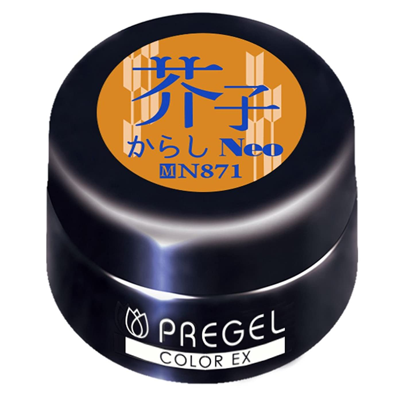 時間とともに優勢雄弁PRE GELカラーEX 芥子(からし)neo 3g PG-CEN871