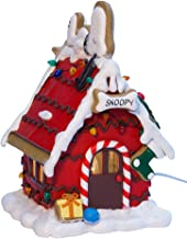 PEANUTS Kurt Adler C7 Snoopy Ginger Bread Lighted House, 9.84-Inch