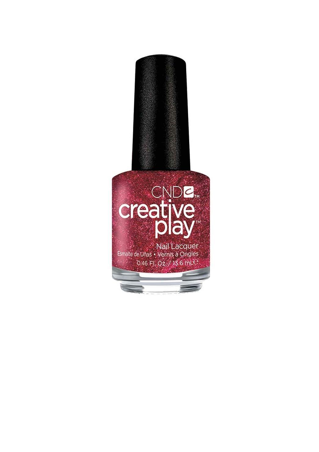 スーパーマーケットサイズ苦味CND Creative Play Lacquer - Crimson Like it Hot - 0.46oz / 13.6ml