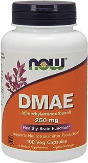 NOW Supplements, DMAE (Dimethylaminoethanol) 250 mg, 100 Veg Capsules
