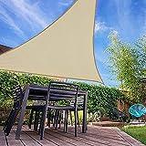 IOAOI Tende da Sole per Esterno 5 m x 5 m x 7,1 m, Triangolare Tenda a Vela Impermeabile Protezione Raggi UV Vela Tenda per Giardino, Balcone e Terrazzo