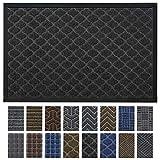 DEXI Outdoor Door Mat, 35x23 Large Durable Rubber Doormat for Indoor Outdoor, Heavy Duty, Waterproof, Low-Profile Front, Back Door Rug Mats for Entry, Patio, Garage