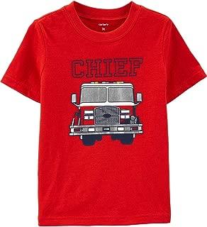 Carter's Boys Girls Short Sleeve Chief Red Firetruck Jersey Tee Shirt 9M