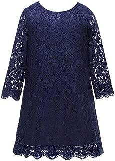 navy lace flower girl dress
