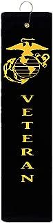 EGA Veteran Marine Corps USMC Jarhead Tri-fold Golf Towel with Grommet & Hook Father's Day Club Ball Tee Golfing Gift Birthday Variety Colors Towels Vinyl