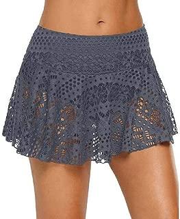 FSSE Women's Lace Skirt Crochet Cover Up Swimdress Bikini Bottom Swim Shorts