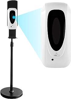 自動誘導アルコール消毒噴霧器 自動手指消毒器 1000ML 自動センサー ステンレススチールフロアスタンド35.4-56インチの調整可能なミストスプレーマシンオフィス学校パブリックエリア(ディスペンサー+スタンド)