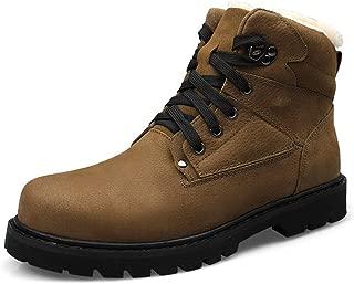 Men's Fashion Boots Casual Classic Troll Toe Winter Fleece Inner High Top Boot Men's Fashion (Color : Khaki, Size : 48 EU)
