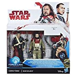 CHIRRUT IMWE AND BAZE MALBUS STAR WARS FORCE LINK ACTION FIGURE 3 PACK