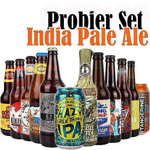 12er Craftbeer-Set - INDIA PALE ALE (IPA) - mit Verkostungstipps und Bewertungsbogen - von.BierPost.com