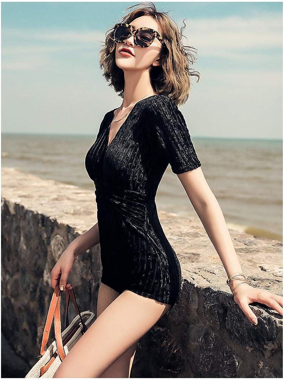 Badeanzüge LQ Sonnencreme Mit rmel Frauen Bademode V-Ausschnitt Neckholder Schwimmen Kostüm Strand