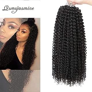 Passion Twist Hair Crochet Braids Twist Braiding Crochet Hair Extensions Water Wave Ombre Colors Synthetic Hair 6Pcs … (18 inch, T1B)