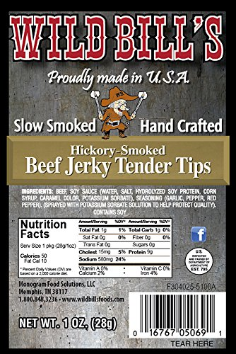 Wild Bill's 1oz Hickory Smoked Beef Jerky Packs (12 beef jerky packs per bag)