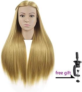 Wansi Cosmetology - Cabezal de Entrenamiento sintético de 66 cm para Trenzado y Peinado con Abrazadera