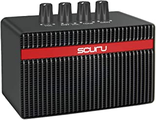 SCURU Electric Guitar Amp 3W with Dist and Clean Effect, Support Aux Input and Headphone Output Electric Guitar Power Amplifier