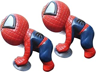 Tidoom Car Window Suction Cup Spider Man Toys Figure Car Home Office Decoration Grown-Up Action Toy for Kids Adults Red 2pcs
