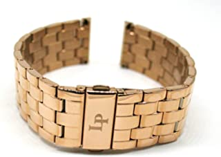 Lucien Piccard 22MM Stainless Steel Band Strap Bracelet 8 Inches Rose Gold Will Fit Clariden Model 11576