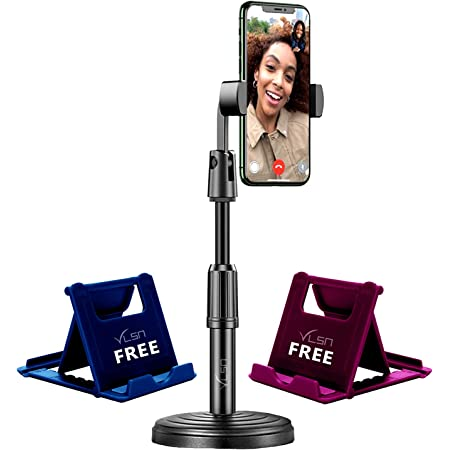 VLSA® ( Free 2 Mobile Stand ) Mobile Phone Stand and Holder for Online Classes Table Bed Youtuber Video Recording Tripod Stands Suitable for iPhone and All Types of Smartphones