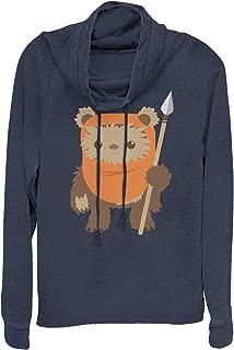 Star Wars Juniors' Wicket Ewok Cartoon Cowl Neck Sweatshirt