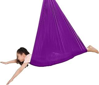 Jlxl Sensoriska gungor för barn med autism Cuddle Hammock Inomhus Justerbara Aerial Yoga Barn ADHD Aspergers Integration g...