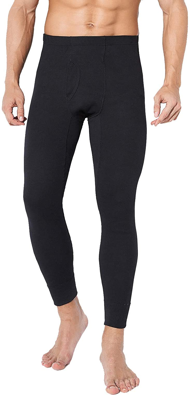 TEERFU Mens Thermal Underwear Set,Cotton Long Johns Midweight Winter Warm Base Layer Bottom