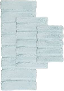 Madison Park Tufted Pearl Channel Washable Bath, Casual Solid Mildew Resistant Shower Mat, 17