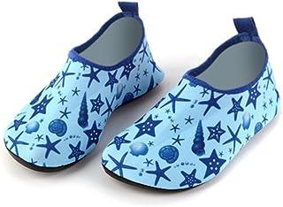 edv0d2v266 Kid Swim Water Shoes Quick Dry Toddler Barefoot Aqua Socks for Beach Pool Surfing Yoga Boys Girls