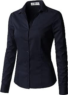 Women's Long Sleeve Slim Fit Button Down Shirt
