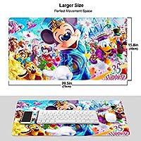 人気ディズニー ワイヤレス マウスパッド 耐久性が良い 防水 滑り止めゴム底 ゲーム オフィス 多機能 マウスパッ
