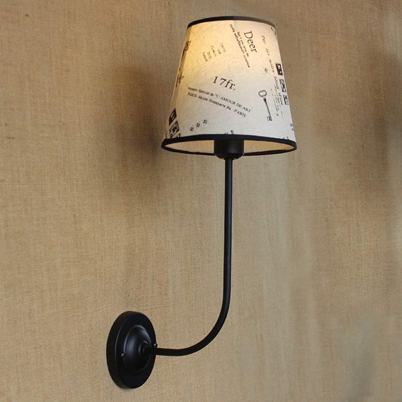 Xiao Fan   E27 Tuch Wandlampe Warmes Schlafzimmer Nachttischlampe Studie Augenschutz Leselampe Wandleuchte Wandlampen für Wohnzimmer Büro Restaurant Bar Restaurant Wandleuchte [Energieklasse A +]