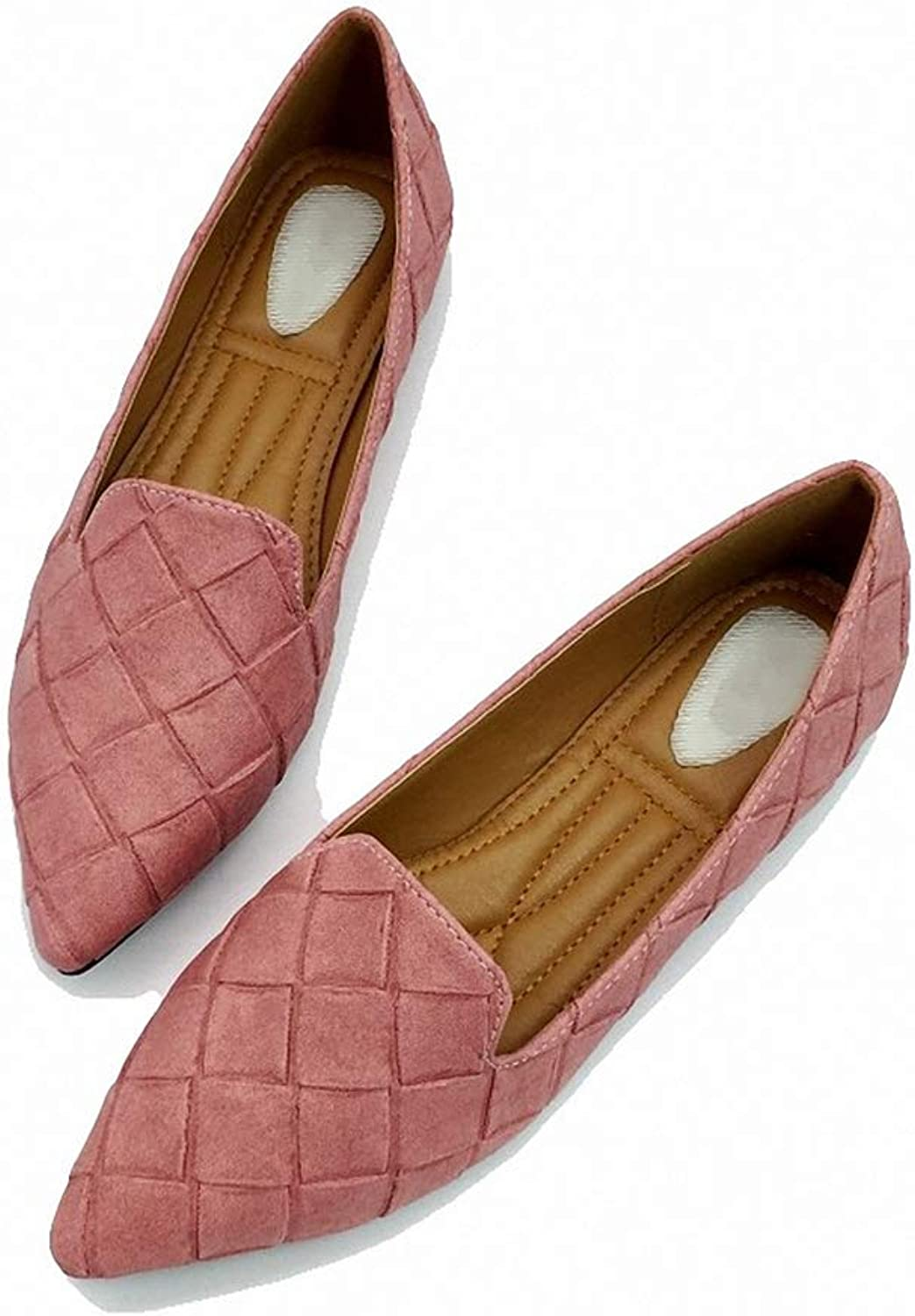 August Jim Flats Flats Flats skor, Pointed Toe Slip on Casual Loafers 8.5 Flat skor  noll vinst