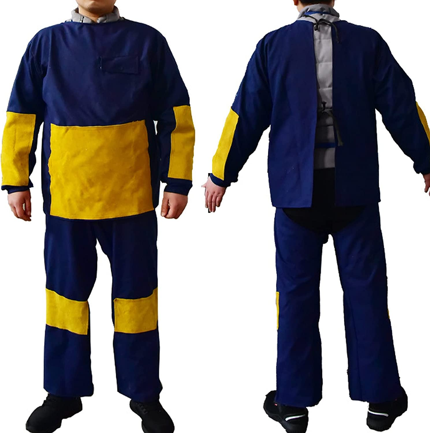 TXYJ Welding Denver Mall Suit Wearable Heat Leather Smock New Orleans Mall Fabric Canvas S