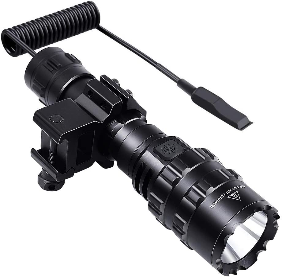 Tactical Flashlight 1600 Lumen with + Clip Mount All items free shipping Rech Challenge the lowest price of Japan ☆